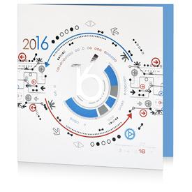 Carte de voeux technologie C1205