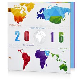 Carte de voeux monde C1207