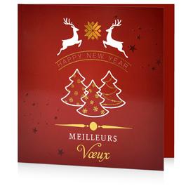 Carte de voeux festive C1211