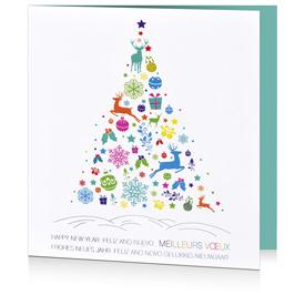 Carte de voeux entreprise festive C1312