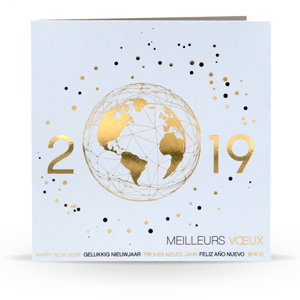 Modele carte de voeux 2019 entreprise