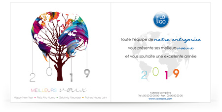 Ecard professionnelle C1909