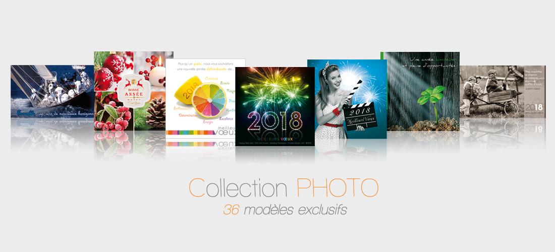 Cartes de voeux professionnelel photo 2018