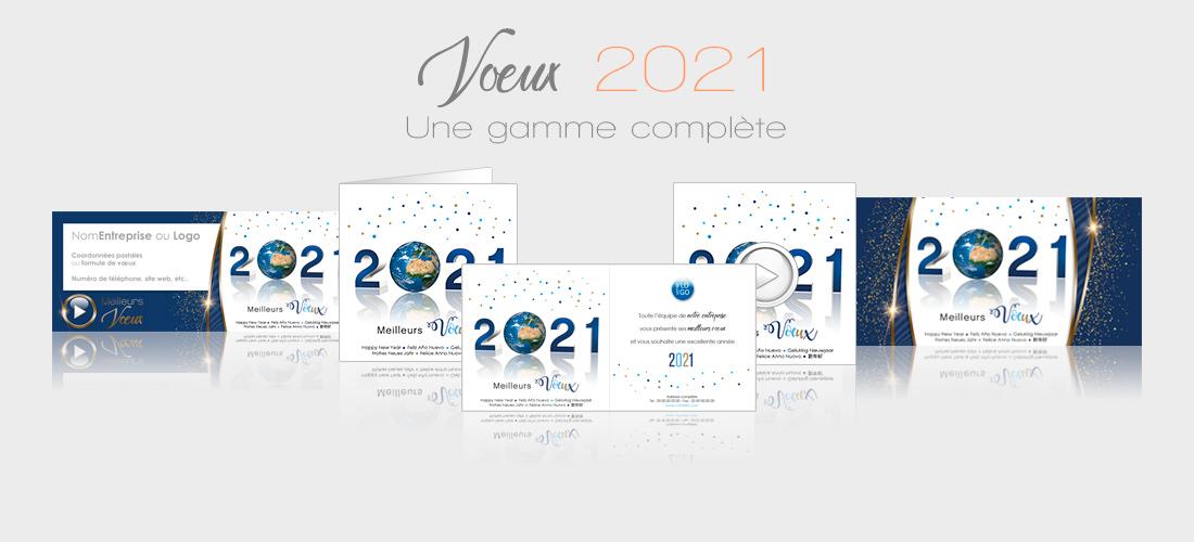 Voeux entreprise 2021 - cartes, ecards, signatures