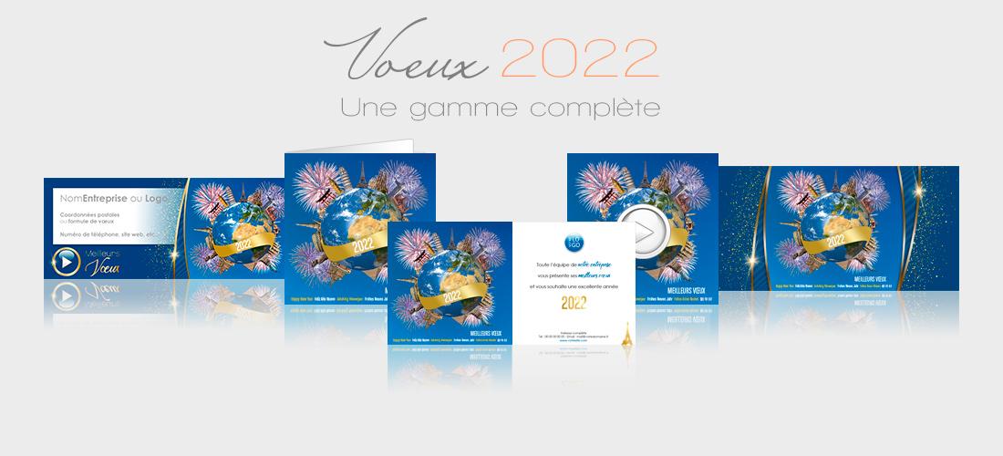 Voeux entreprise 2022 - cartes, ecards, signatures